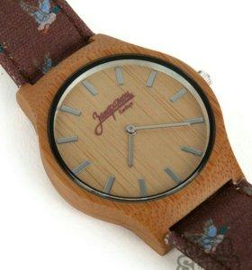 Наручные часы Запорожец Бамбук Дичь - Коричневые