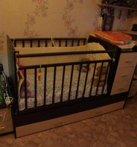 Детская кроватка-трансформер (маятник)