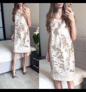 Новое Платье с пайетками S 42 р-р