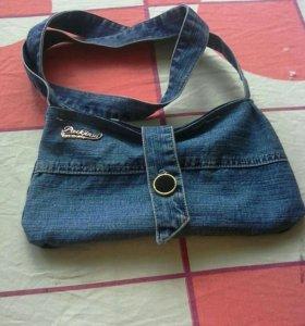 Детская джинсовая сумочка.