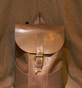 Кожаный рюкзак ручной работы + подарок