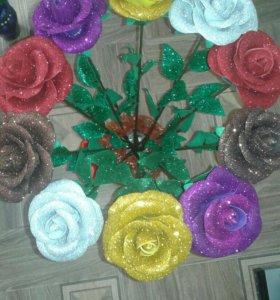 Цветы из фомирана
