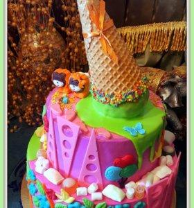 Торты, капкейки!Детские тортики!