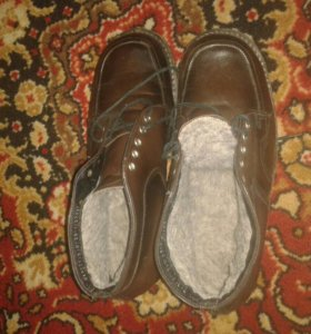 Ботинки зимние натур.кожа,1 раз одеты