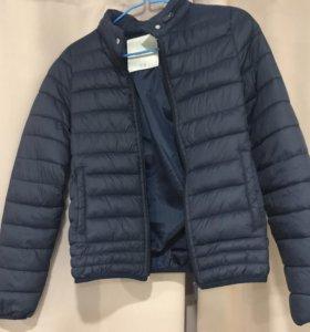 Куртка женская синяя, стеганая, размер S