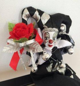 Кукла коллекционная Скоморох