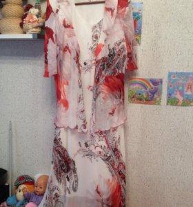 Платье с накидкой 52-56 Р-р