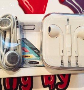Наушники Apple, оригинальные, новые