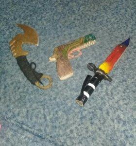 Ручные деревянные ножи