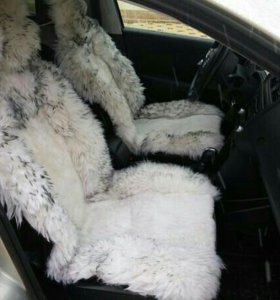 Меховые накидки на сидения автомобилля