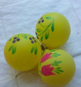 Елочные игрушки шары ретро