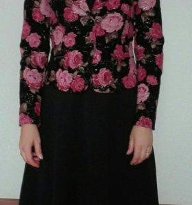 Платье и пиджак размер XS (36-38)
