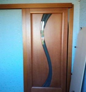 Дверь межкомнатная на роликовом механизме