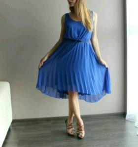 Платье синее 46-44 р-р