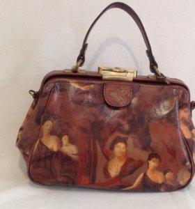 Кожаная женская сумка фирма Патрисия Нэш новая из США
