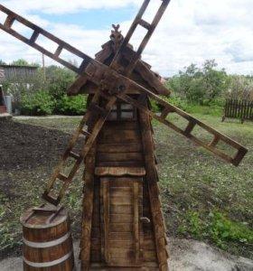 Декоративная мельница для сада и дачи 7000 руб