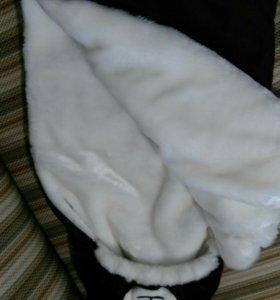 Конверт для новорожденногона зиму Мишка