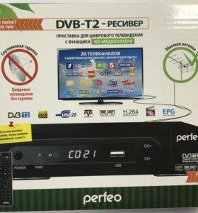 Приставка для цифрового тв DVD-t2 perfeo pf-168-1