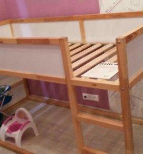 Кровать детская Ikea kura с матрацем