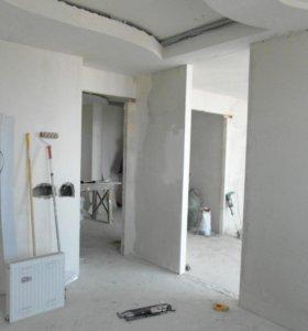 Штукатурка и шпаклевка стен и потолка, покраска