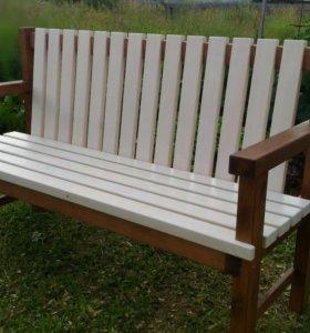 Деревянный диванчик (скамья) для дома, дачи