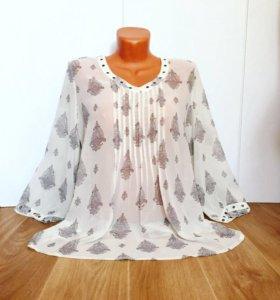Брендовая шифоновая блуза