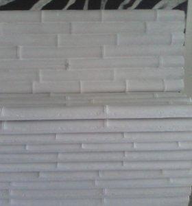 Декоративная гипсовая 3D панель-Бамбук