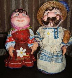 Сувенирная кукла ручной работы