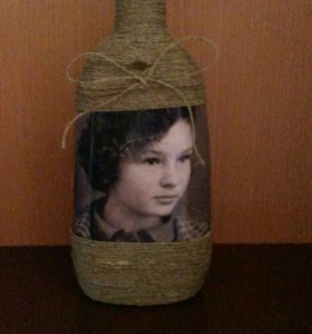 Декор бутылочки с фото