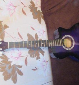 Гитара акустическая Cowboy фиолет новая