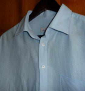 Сорочка с коротким рукавом (хлопок + лен)