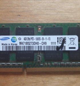 для ноутбука DDR3 4Gb разумеется с проверкой