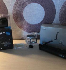 GoPro hero 5+монопод-штатив GoPro+аквабокс