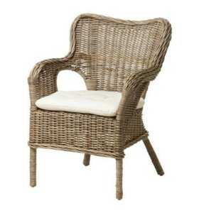 Плетёное кресло икеа бюхольма + мариеберг