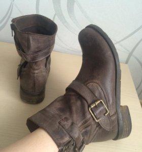 Ботинки кожаные👞 + 🎁 туфли 38 размер замшевые 👠
