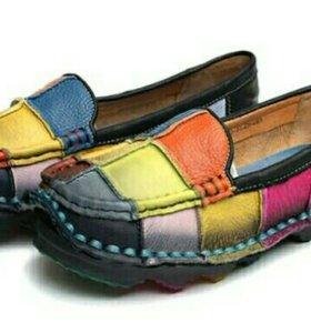 Туфли кожанные мягкие