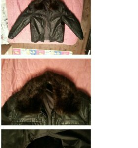Зимняя - осенняя мужская кожаная куртка