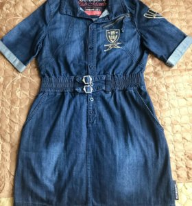 Платье НОВОЕженское джинсовое, JBC.Размер 46-48,L.