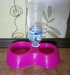 Двойная миска с автоподачей воды