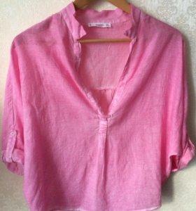 Нежно-розовая рубашка Mango 🌸 (новая)
