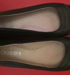 Туфли на девочку,кожа