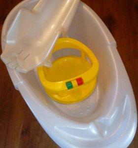 Набор для купания (ванночка,горка,стульчик)