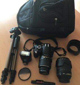 Фотоаппарат Nikon D3100 с оптикой
