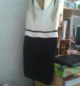 Черное белое платье incity