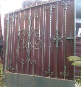 ворота кованые скалиткой
