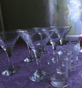 Бокалы для мартини, стопки