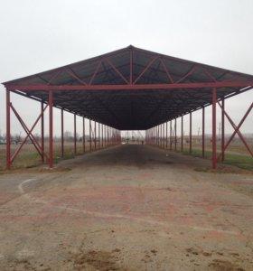 Строительство ангаров, навесов, зернохранилищ под