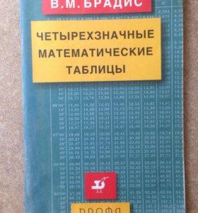 """Четырёхзначные математические таблицы"""