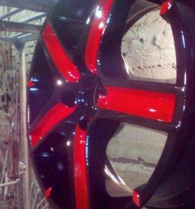 Полимерная (порошковая) покраска дисков.