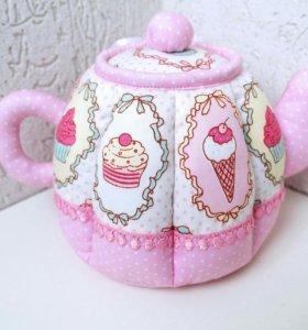 Текстильная шкатулка-чайник